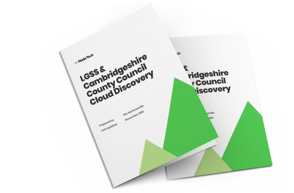 LGSS and cambridgeshire county council cloud discovery booklets
