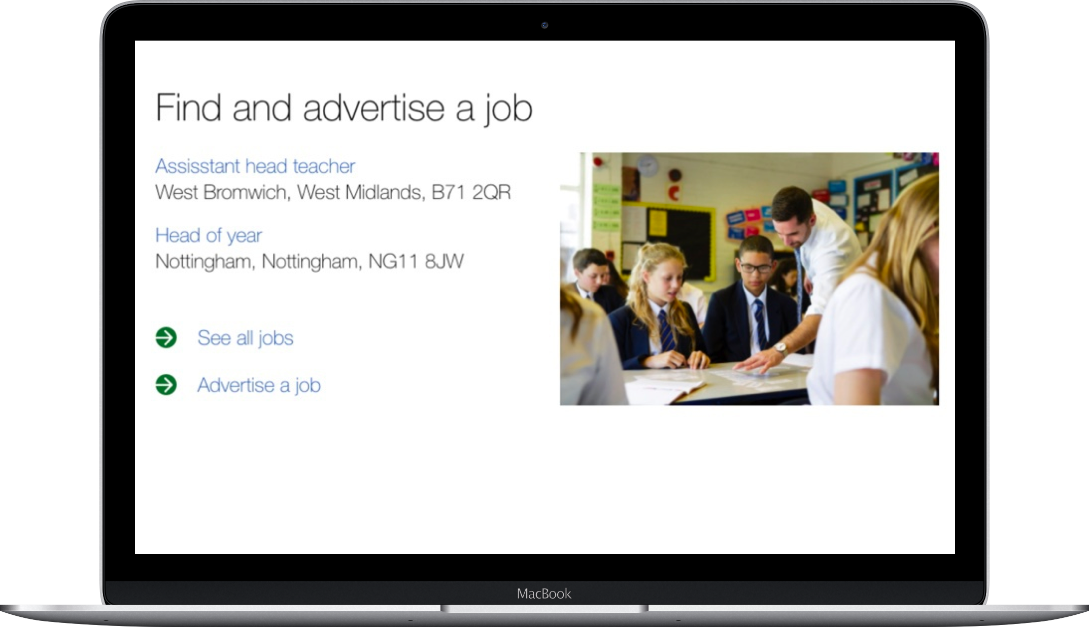 Find and advertise a job laptop