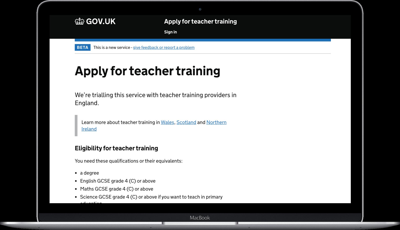 Apply for teacher training laptop