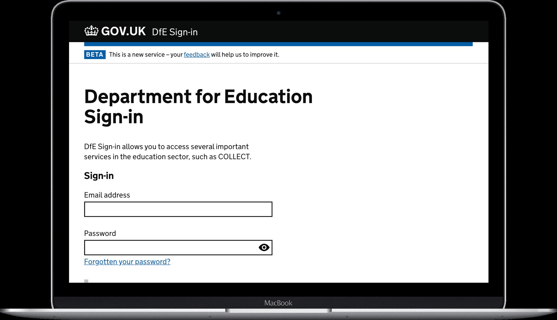 Department for Education laptop