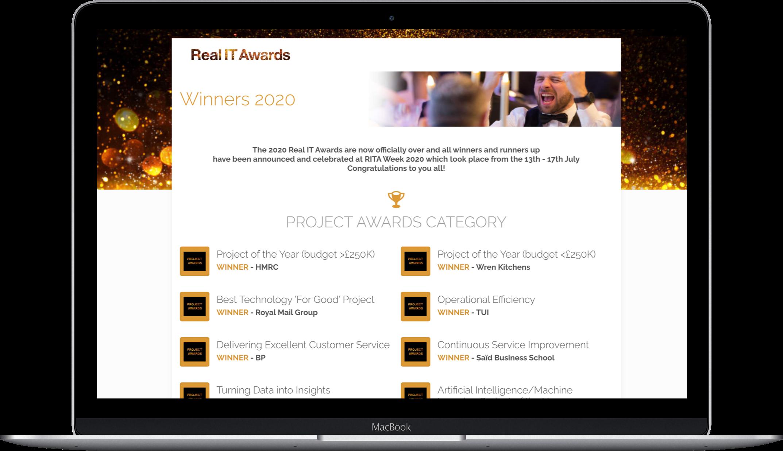RealIT Awards laptop