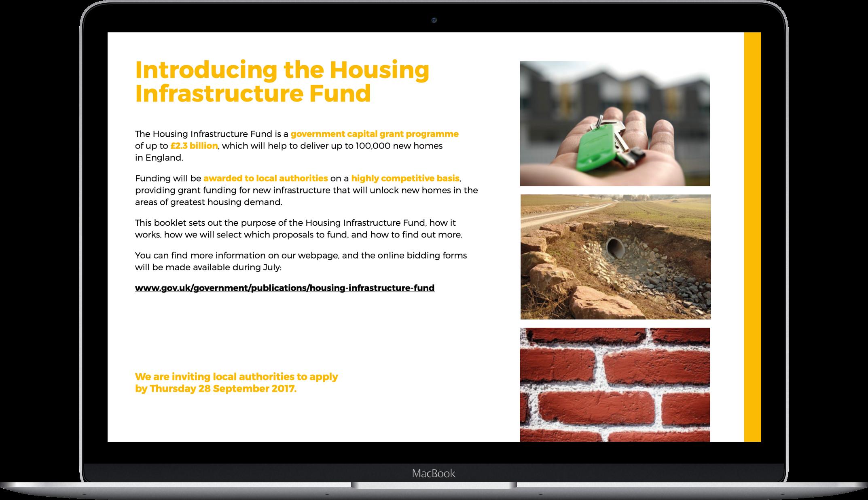Housing infrastructure fund laptop