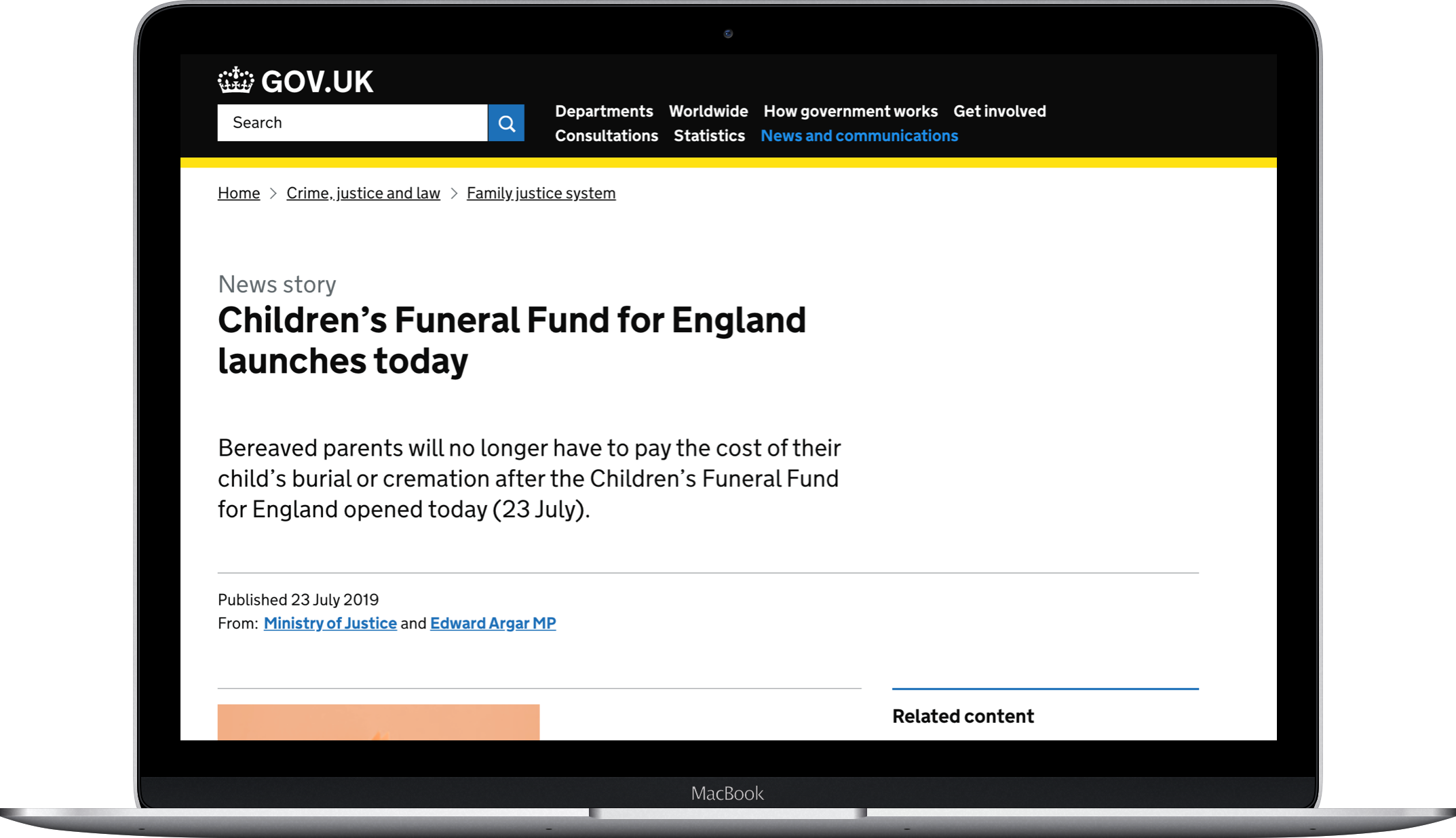 Support for childrens funeral costs laptop