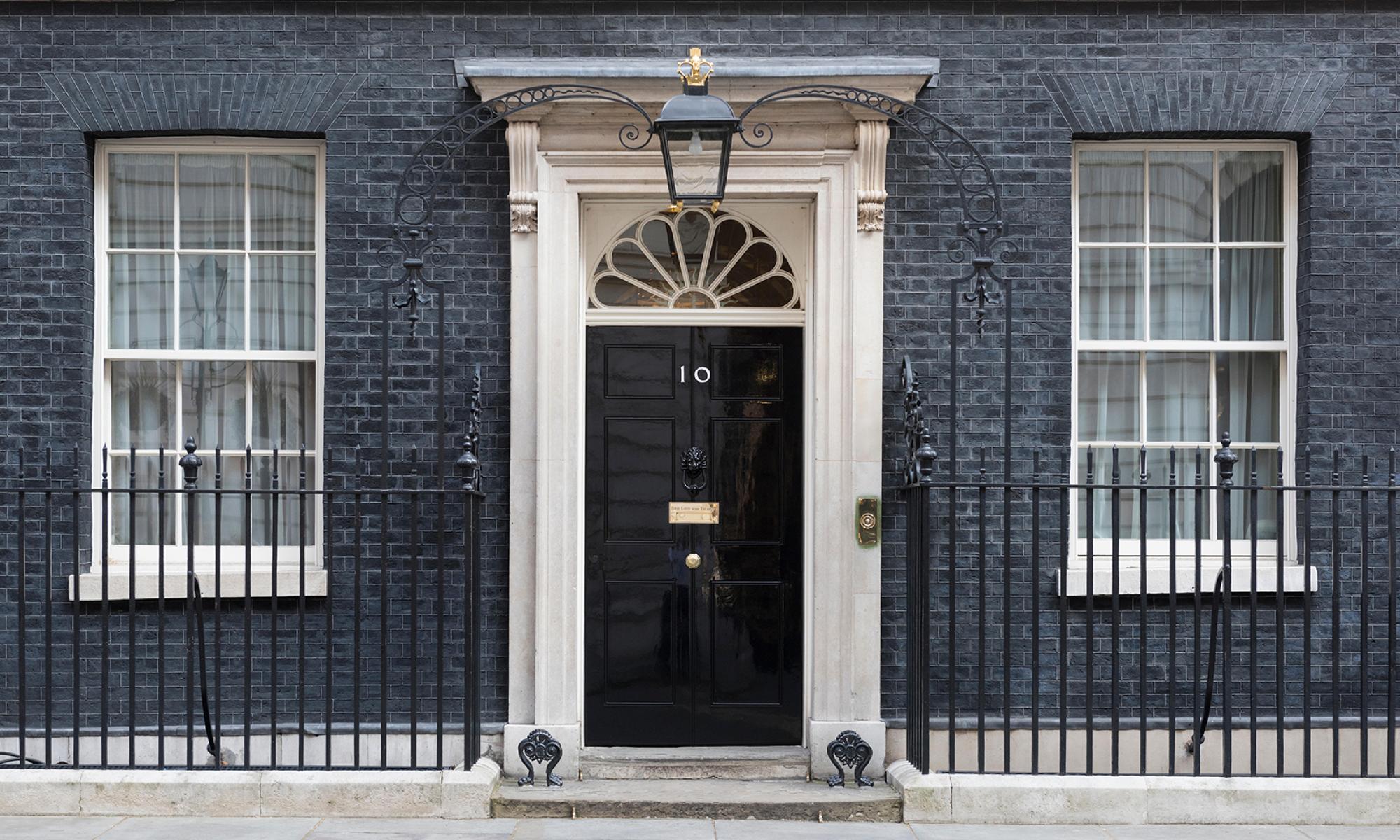 No10 building door
