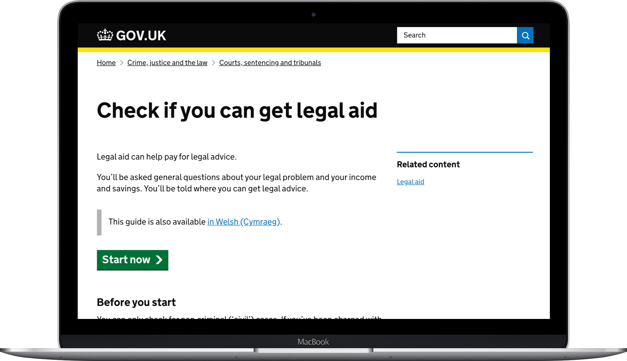 Check if you can get legal aid computer