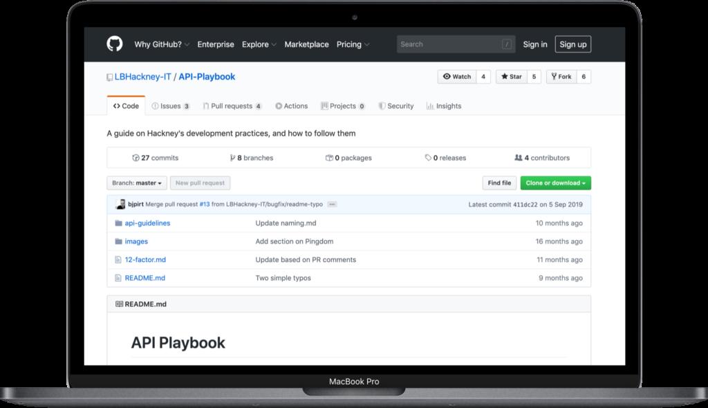 API playbook laptop