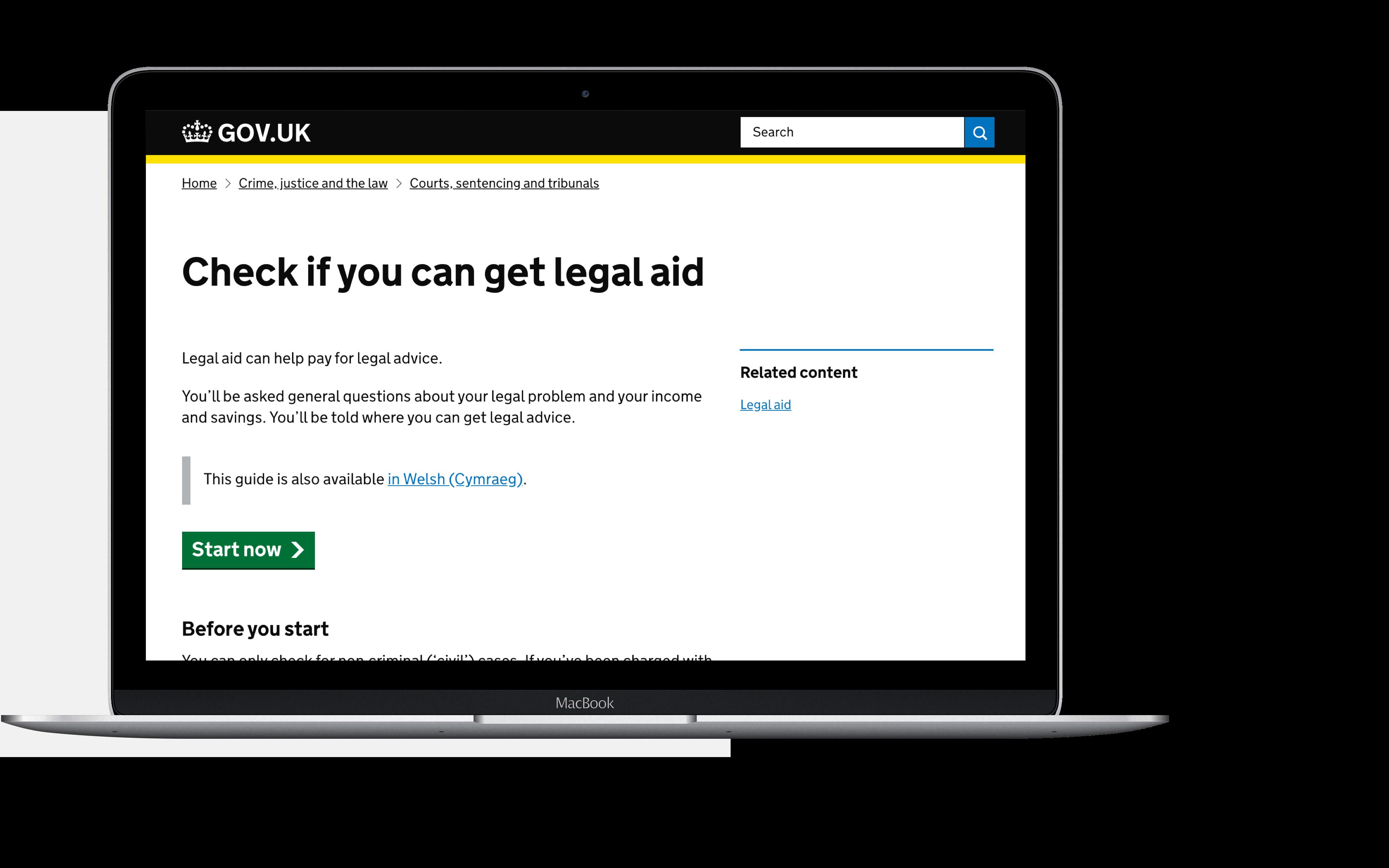 Legal aid agency laptop
