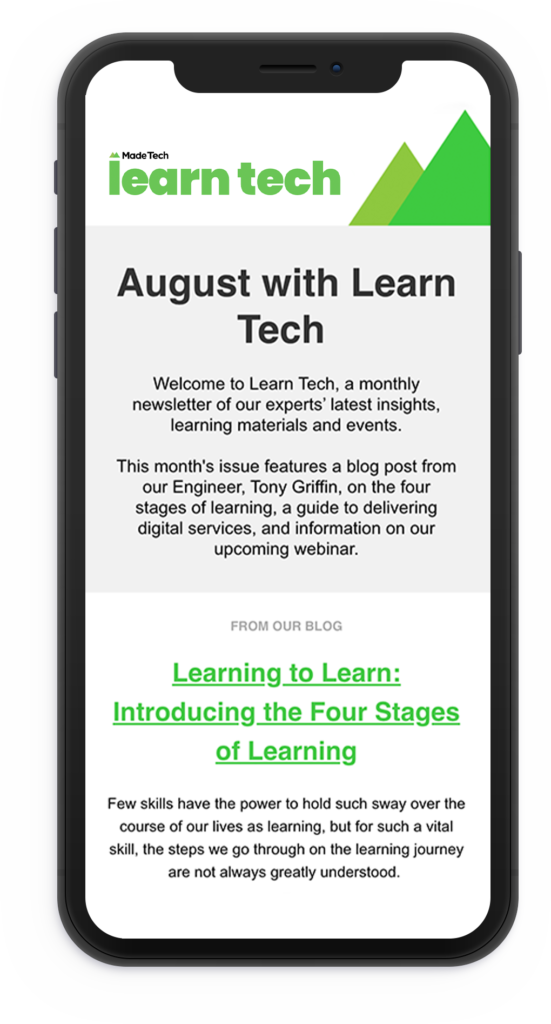 Learn tech email on a phone
