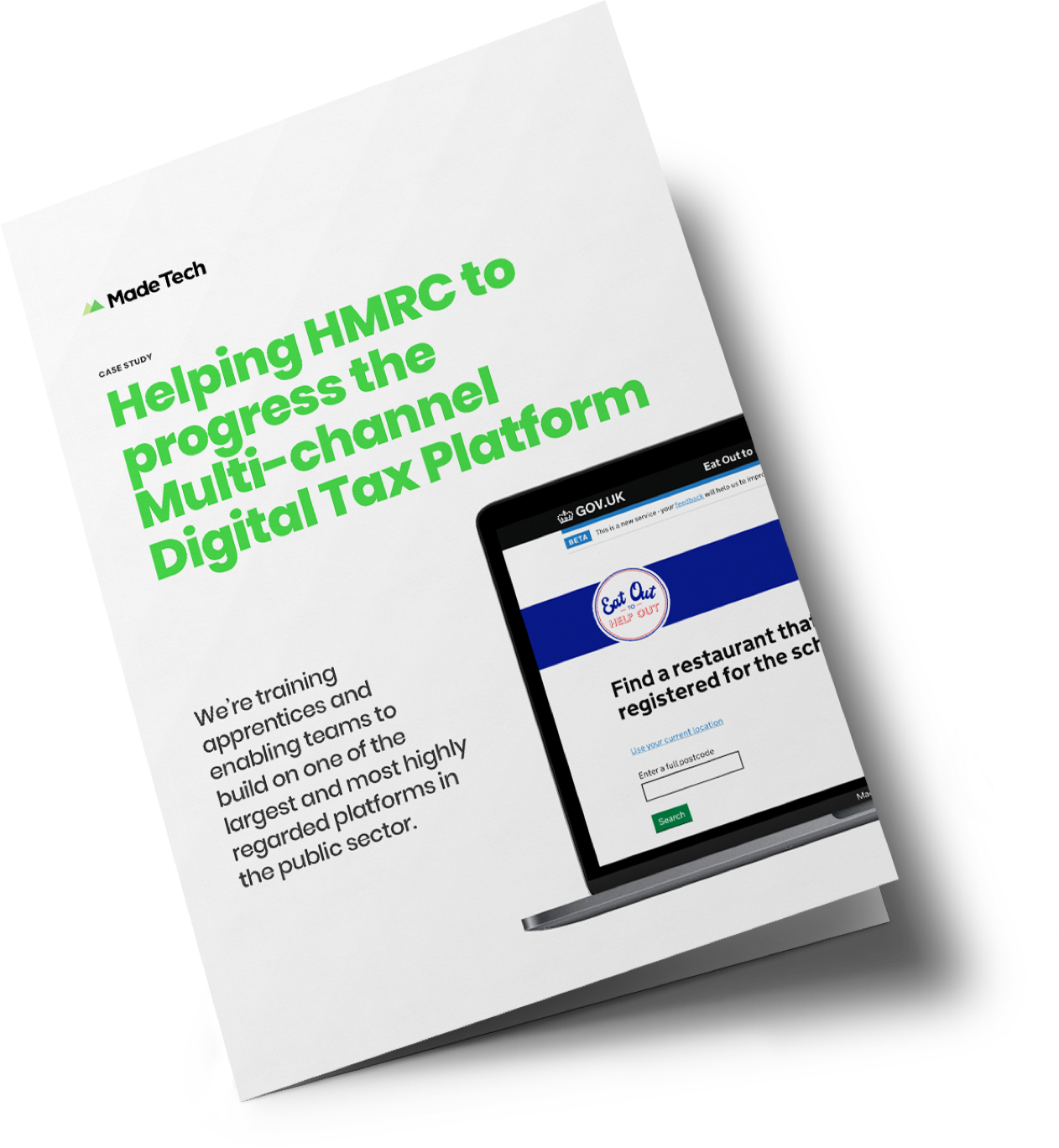 Helping HMRC to progress the Multi-channel Digital Tax Platform case study cover