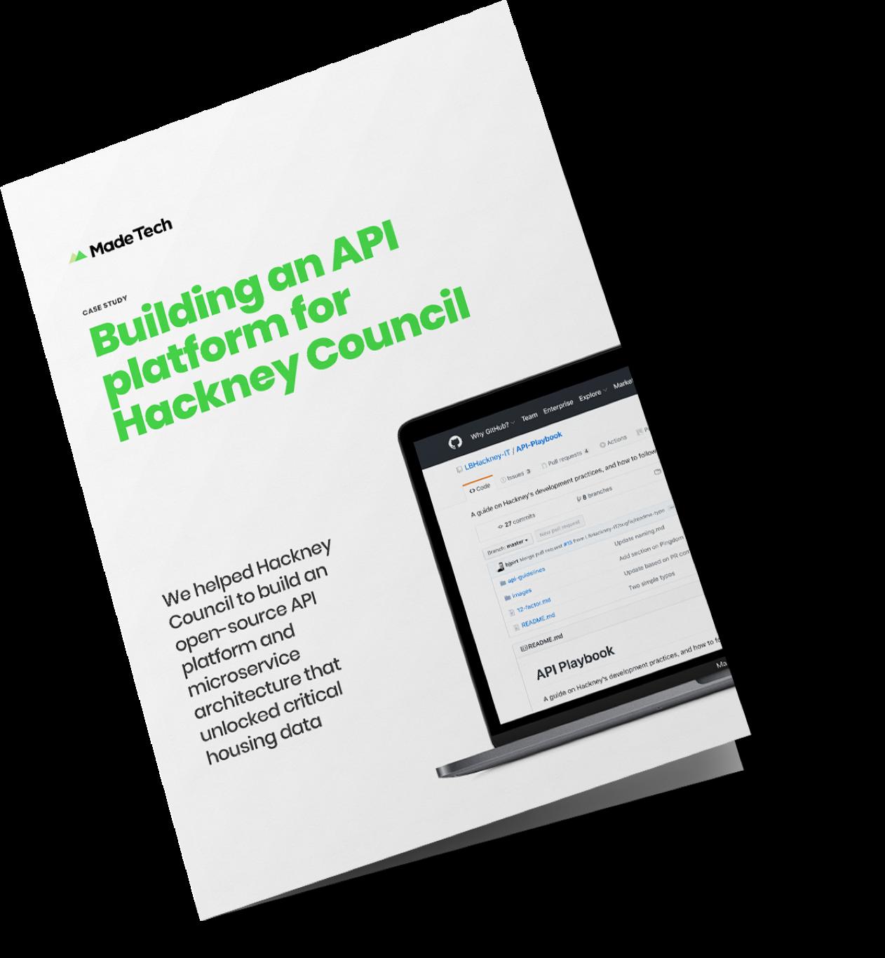 Building an API platform for Hackney Council case study cover