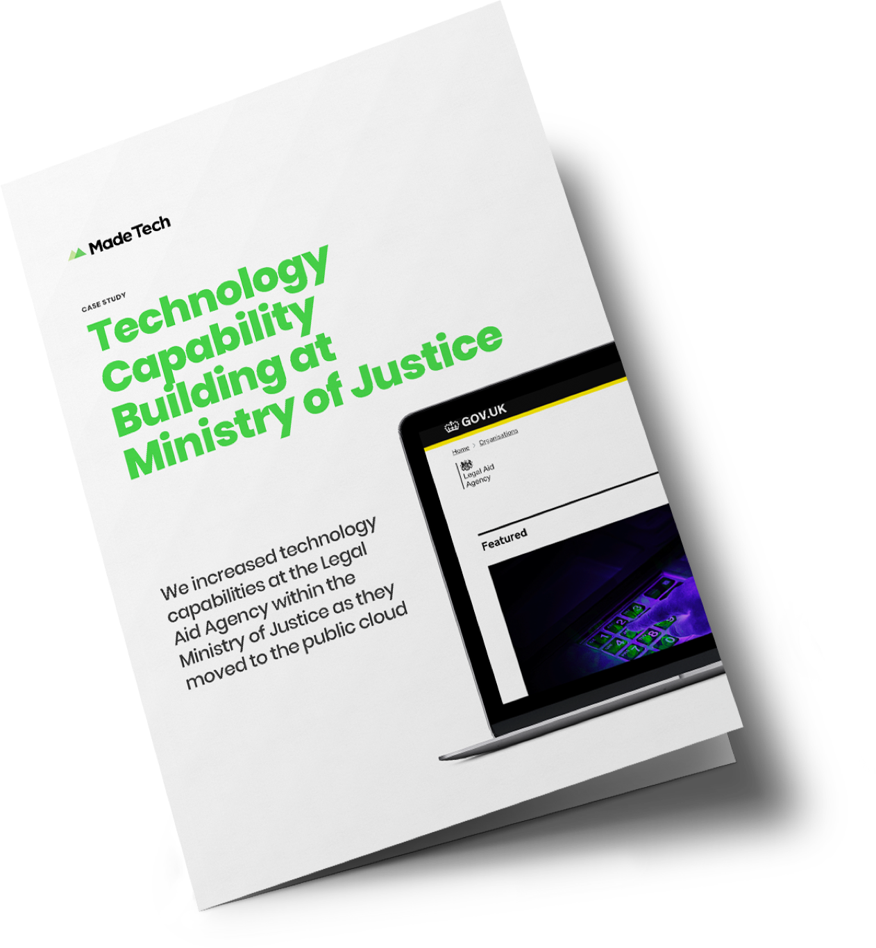 Technology Capability Building at Ministry of Justice case study cover