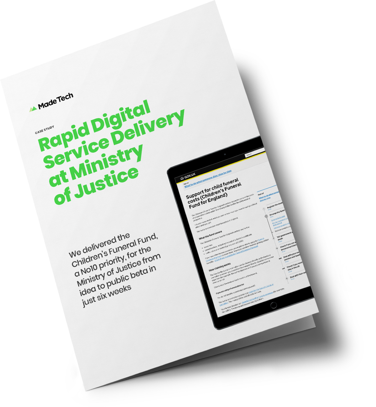 Rapid Digital Service Delivery at Ministry of Justice case study cover