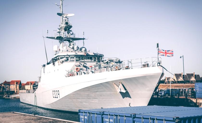 Big ship at dock