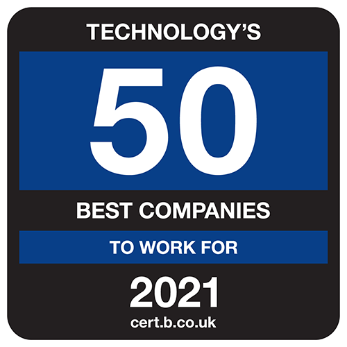 Best Companies Technology's 50 best companies to work for in 2021 badge