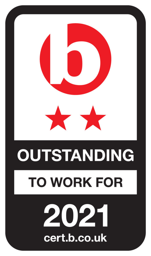 Best Companies Outstanding to work for in 2021 badge