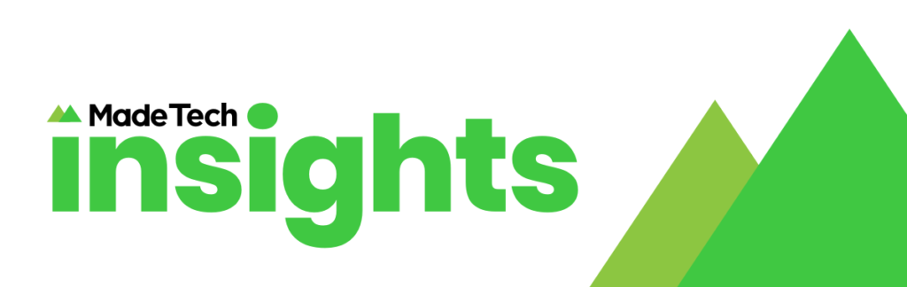 Made Tech Insights logo with green mountains