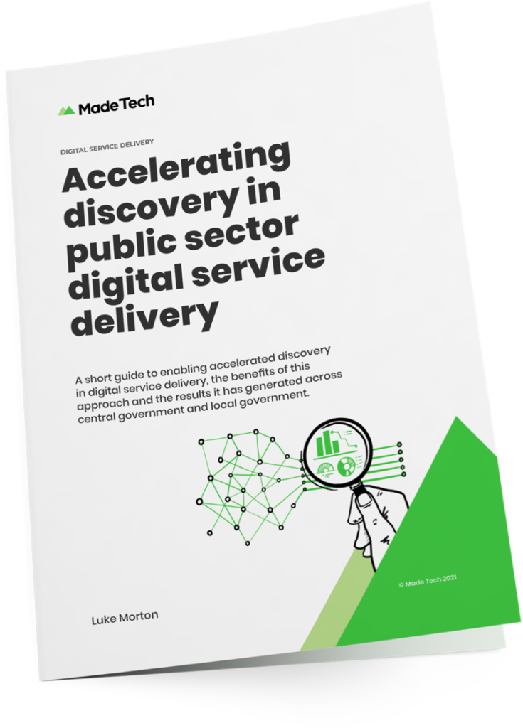 Accelerating discovery in public sector digital service delivery whitepaper cover