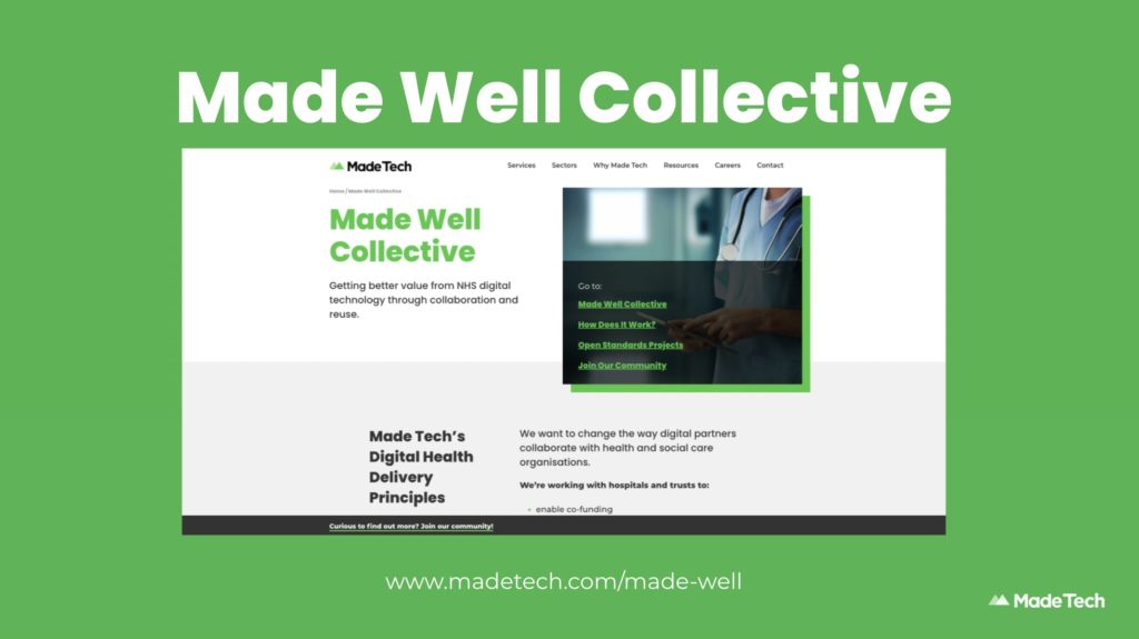 Screenshot of the Made Well Collective site